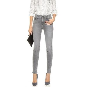 J brand Maria gray high rise skinny jeans